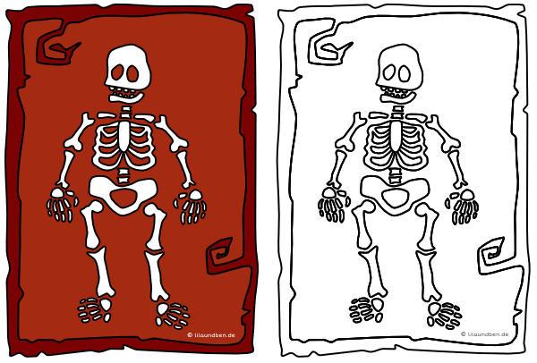 halloween skelett zum ausmalen